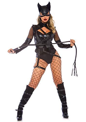 Leg Avenue Women's Villainess Vixen Sexy Cat Woman Costume Black