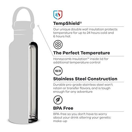 Hydro Flask Water Bottle - Standard Mouth Flex Lid - 24 oz, Cobalt