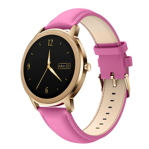 Smartwatch Mujer - Pulsera Actividad Impermeable IP68 con Pulsómetro,Monitor de Sueño,Reloj Inteligente Mujer con 21Modos Deporte Podómetro、Ciclo Menstrual ,Calorías - Reloj Deportivo para Android iOS