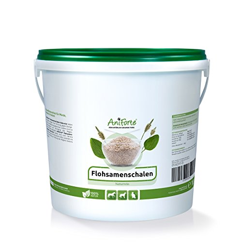 AniForte Cáscaras de psyllium para caballos, perros y gatos 1kg - Producto natural, ricas en fibra, psyllium indio para caballos en calidad de alimento crudo