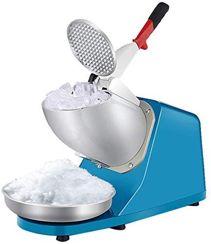 IJsmachine, elektrisch dubbel mes Ice Sneeuwijsmachine Roestvrijstalen sneeuwkegelmachine Tweede crushed ice pond