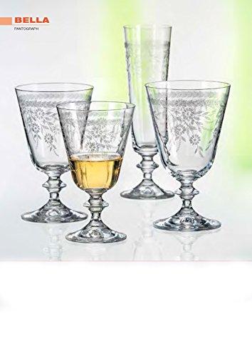 Bohemia Cristal verres de champagne Bella noble pantography, 205 ml, 6 - Set