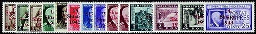 Goldhahn Deutsche Besetzung Albanien Nr. 1-14 postfrisch Briefmarken für Sammler