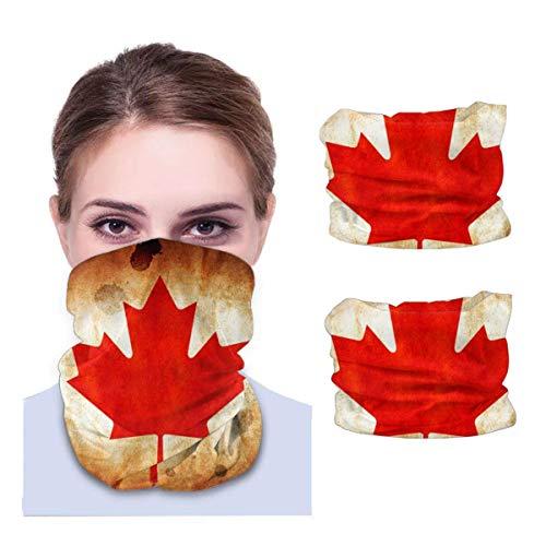 N/W 2 paquetes de bufanda, bandanas para el cuello, polaina para el cuello, Canada My Canada, transpirable, pasamontañas, color negro
