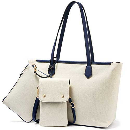 3 PC Canvas Tote Bags Set for Women $11.49 (50% Off with code)
