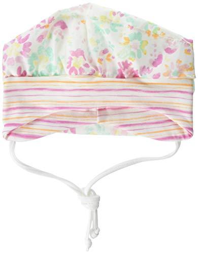 maximo Baby-Mädchen Kopftuchmütze Mütze, Mehrfarbig (Minth-Pink-Blumen 28), 51