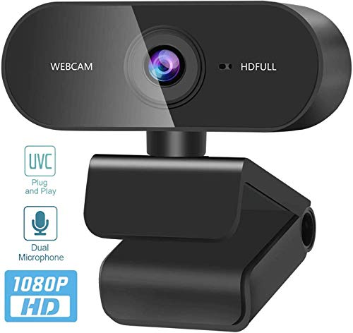 MYJZY Rotatable Full HD 1080P Webcam, USB Camera with Noise-Reducing Mic, Compatible with Windows for FaceTime, Live Streaming, Online Teaching Plug and Play