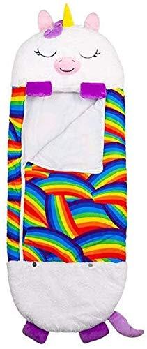Grande licorne Happy Nappers Confortables et amusants Doux Grands oreillers et sacs de couchage pour enfants Pliable