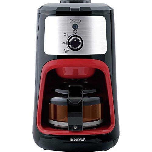 アイリスオーヤマコーヒーメーカー全自動メッシュフィルター付き1~4杯用ブラックIAC-A600