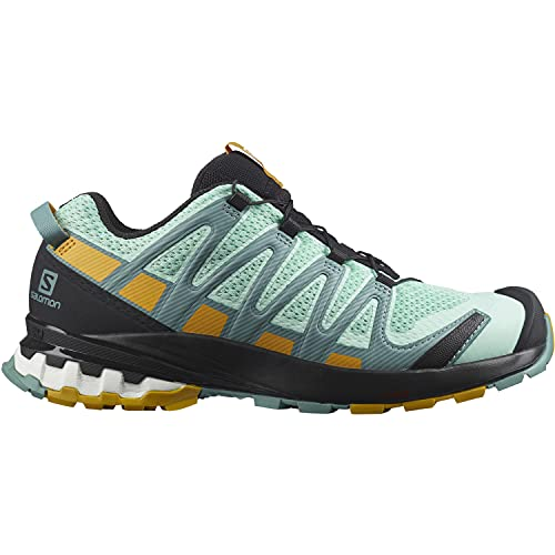 Salomon XA Pro 3D V8 Mujer Zapatos de trail running, Verde (Yucca/Trellis/Arrowwood), 40 EU