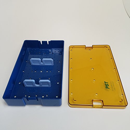 PST Sterilization Tray 2361A Deep Base, Lid & (1) 2311S & (1) 2312S 6.0 X 10.0 X 1.5