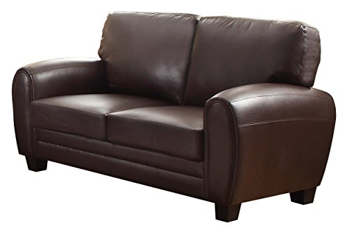 Homelegance Rubin Bonded Leather Loveseat