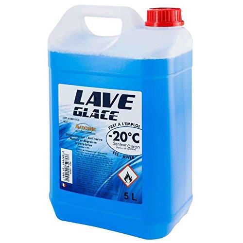 Provence Outillage 6524 PERALINE 6524-Lave Glace-Bidon de 5 litres-Spécial hiver-20°c-Dégraisse et élimine Insectes et salissures du Pare-Brise