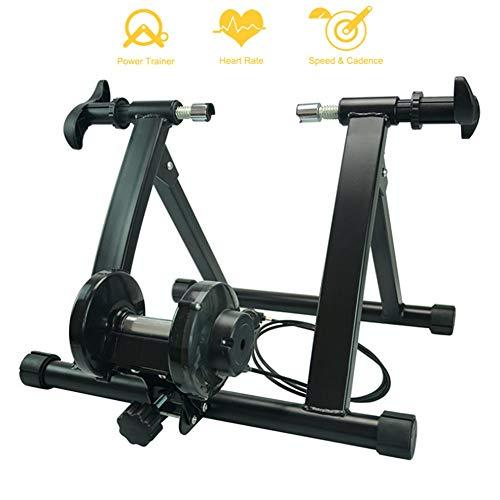 NNZZY Trainer per Bicicletta per Allenamento in Casa, Rullo Turbo Trainer Magnetico per Bicicletta con Regolatore velocità, Trainer Pieghevole