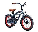 Rad BIKESTAR Premium Sicherheits Kinderfahrrad 16 Zoll für Jungen ab 4 - 5 Jahre ★ 16er Kinderrad Cruiser ★ Fahrrad für Kinder Blau für Kinder bei Amazon