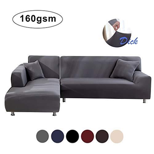 NIBESSER Sofabezug 3 Sitzer+3 Sitzer Sofaüberwürfe für L-Form Sofa elastische Stretch Sofabezug Sofa Überzug