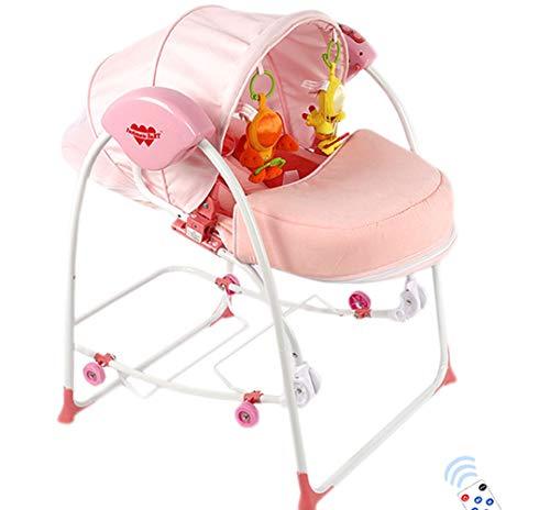 Thole Baby Elektrisch Schaukel Schaukelwippe Mit Mobile Fernbedienungextra FüR 0-36 Monate,Pink