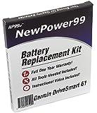 NewPower99 Kit de batería de Repuesto para Garmin DriveSmart 61 con vídeo de instalación, Herramientas y batería de Larga duración.