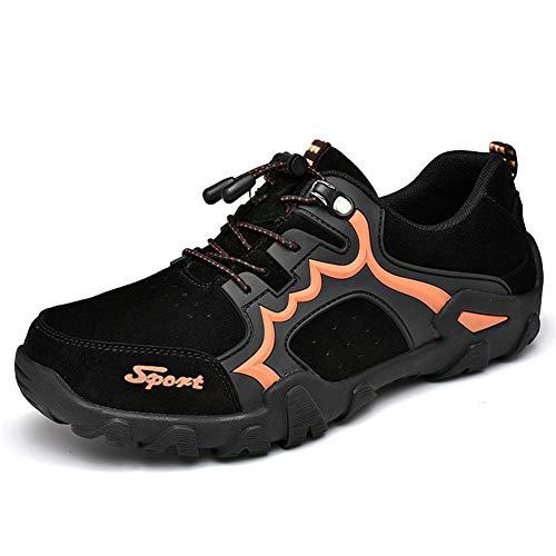 DUORO Herren Wanderschuhe Trekking Schuhe Sport Outdoor Leichte rutschfest Klettern Sneaker (48 EU, Schwarz)