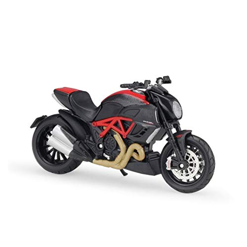 1/18 para Ducati Diavel Scale Classic Motorbike Series Carbon Diecast Metal Motorcycle Model Kids Toy For Collection Regional