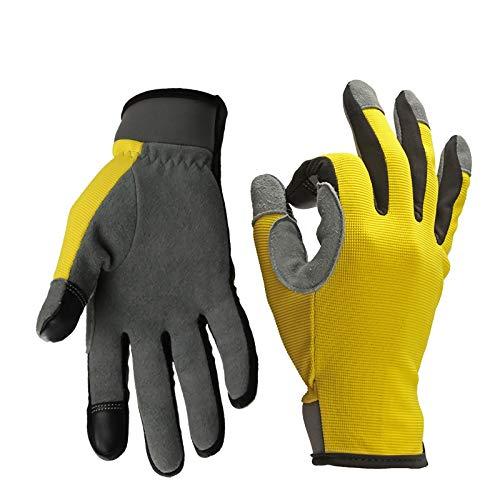 Gamuza de dos capas de dos capas Motocicleta bicicleta dedo dedo finger guantes para deportes al aire libre Guantes de equitación Protección mano de obra Jardinería Out Out Escalada Pesca Protección