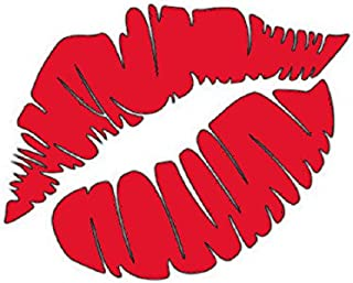 Girls Night Out Red Lips Decal Vinyl Sticker Cars Trucks Vans Walls Laptop  RED  5.5 x 4.5 in CCI648