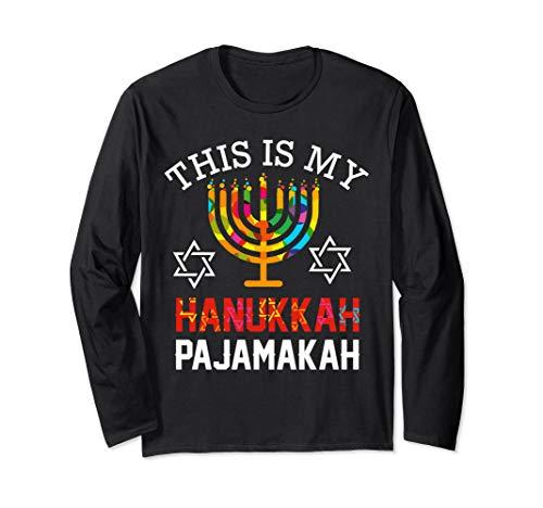 This is My Hanukkah Pajamakah hanukkah funny pajama gift Long Sleeve T-Shirt
