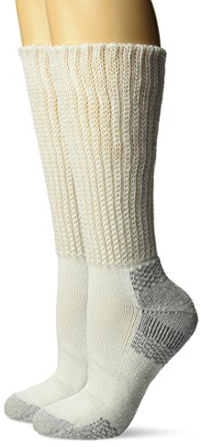 Dr. Scholl's Women's Advanced Relief Diabetic & Ciculatory Crew Socks (2 Pack), White, Shoe Size: 8-12