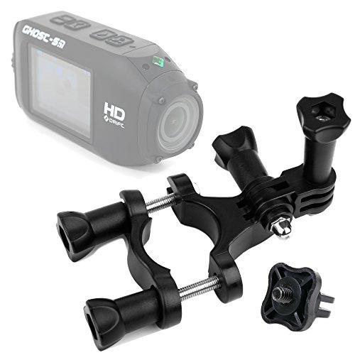 DURAGADGET Durable Drift HD Action Camera Handlebar Mount Bike Handlebar Mount for Drift HD Ghost & Drift HD - Plus Bonus GoPro Screw Thread Adapter!