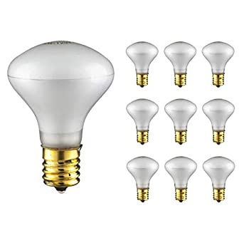 Sterl Lighting – 40 Watt R14 E17 Indoor Spot Light for Cabinet or Display Appliance as Lava Lamp R14 40w Bulb Intermediate Base 120V 2.55Inch 240Lm Incandescent 2700K Warm White Frost – 10 Pack