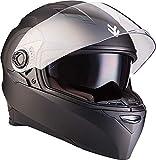 Armor · AF-77 Casco moto Integrale, ECE certificado, Separate Visors, XS (53-54cm), Mate Negro