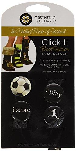 CastMedic Designs Click-It Pins Voetbal Ontwerp voor Medische Laarzen