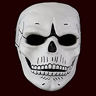 Smays James Bond 007 Film Spectre (2015) Similar Cosplay Mask Gift for Halloween Party, Masquerade, Stage Performance, Carnival and Bar (Polyresin, Hard Case / Strong / Heavy, White)