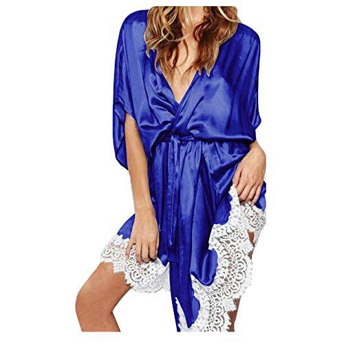 ABsoar Negligees Damen Mode Lingerie Frauen Nachthemd Bademantel Nachtwäsche Seide Lace Robe Sleepwear Babydoll Nightgown Nachtwäsche Sleep Mantel