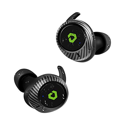 Wireless Earbuds, DESTEK T1 65H Playtime aptX Deep Bass Bluetooth Earbuds, Real IPX7 Waterproof Bluetooth 5.0 Headphones Noise Cancelling Hi-Fi Stereo Earphones Wireless Charging Case for Sport