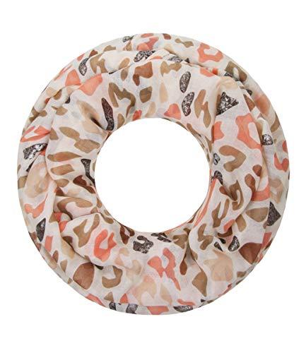 Majea Majea Damen Loop Schal viele Farben tolle Muster Schlauchschal Halstücher (beige 24)