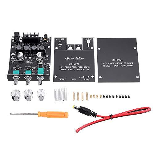 relais ZK-502T Hi-Fi Tone Version 50W * 2 Bluetooth 5.0 Module d'amplificateur d'alimentation audio 5.0 Module d'amplificateur de basse haut et basse Basse Subwoofer Dual Canal Stéréo commutateur de r