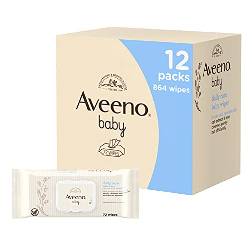 AVEENO Baby Daily Care Wipes - Cleanse Gently and Efficiently - Baby Wipes...