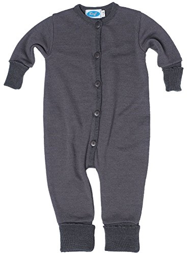 Reiff Baby Overall/Schlafanzug Frottee, 70% Merino-Schurwolle kbT. / 30% Seide (50/56, fels)