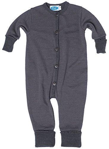 Reiff Baby Overall/Schlafanzug Frottee, 70% Merino-Schurwolle kbT. / 30% Seide (62/68, fels)