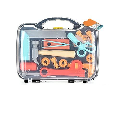 Floepx Kinderspielhaus Spielzeug, Simulation Reparatur Bauwerkzeuge Set DIY Montage- und Demontagespielzeug Montessori Spielzeug für Kinder DIY Spielzeug