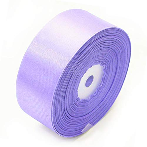 """Selling Wonderful 1.5"""" Single Face Satin Ribbon 50 Yards Roll for Gift Wrap Sewing Projects Crafting Projects DIY Bow Wedding Decoration (Violet)"""