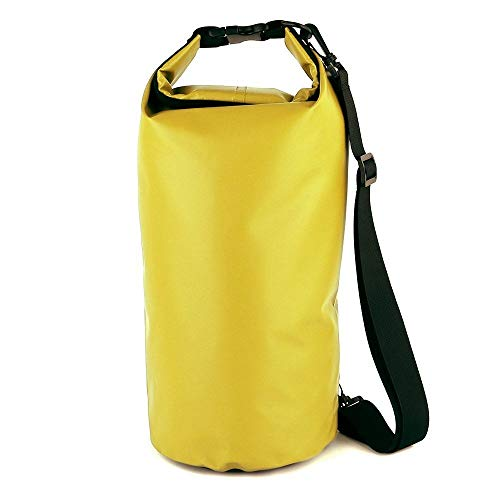 Essming Saco de PVC Bolso de la Motocicleta al Aire seco Bolsa a Prueba de Agua 10L 20L 30L, Hombro, Buceo, natación, Kits de Viaje de conducción de excursión el Bolso (Color Name : Yellow 10L