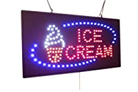 Ice Cream Sign, TOPKING Signage, LED Neon Open, Store, Window, Shop, Business, Display, Grand Opening Gift