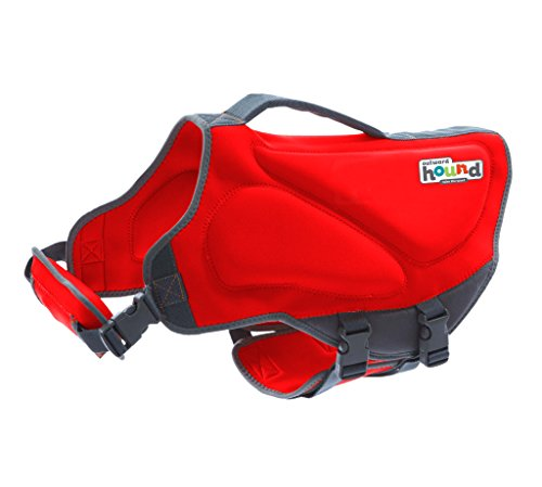 Outward Hound Dawson Dog Life Jacket, Medium, Red