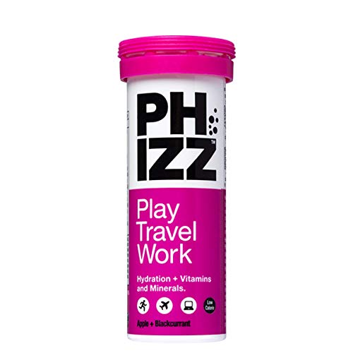 Phizz Electrolyte Multivitamin Rehydration Tablets - 19 Vitamins & Minerals, Energy Boost (Apple & Blackcurrant, 10 Tablets)