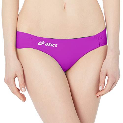ASICS Parte inferior de bikini Keli de mujer, Berry / Navy, X-Small