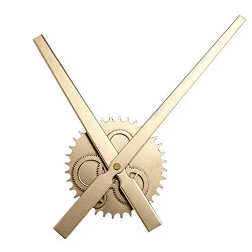 Eastery Design 3D XXL wandklok uurwerk kwartsuurwerk zonder cijfers alleen wijzers eenvoudige stijl goud wandklok antiek vintage design rustiek moderne woonkamer stijl