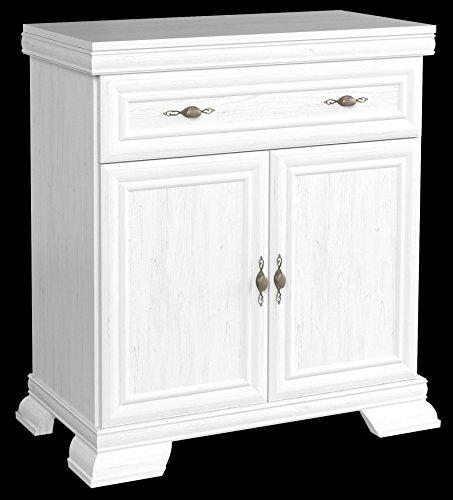 Furniture24 Kommode Kora KK1 Schrank Wohnzimmerschrank 2 Türen und 1 Schublade (Andersen Kiefer)