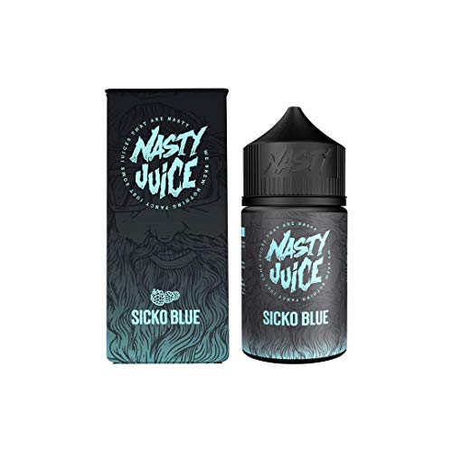 Nasty Juice Berry Series e Liquid Vape Sabores múltiples, 50ML 0MG 70VG 30PG - Sin nicotina (Sicko Blue)